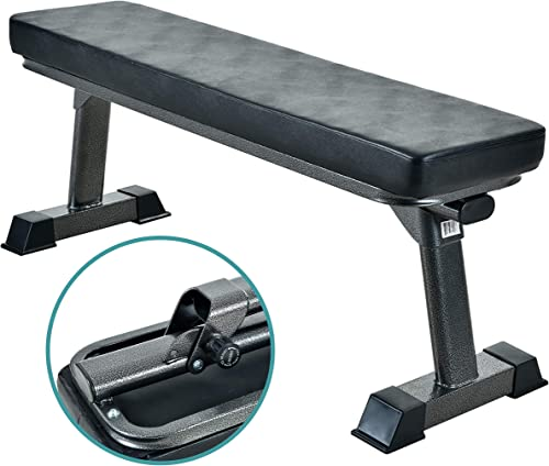 side facing finer form foldable flat bench
