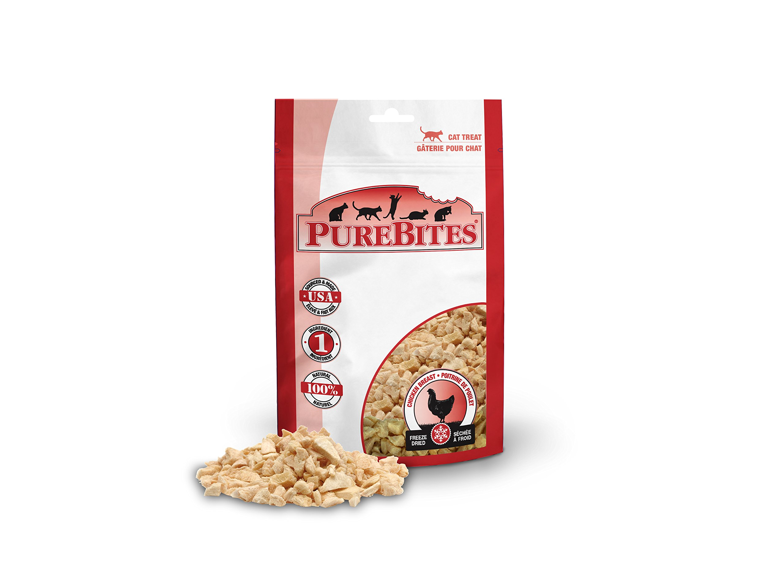 PureBites Freeze Dried Chicken Breast Cat Treats 1.09-Ounce