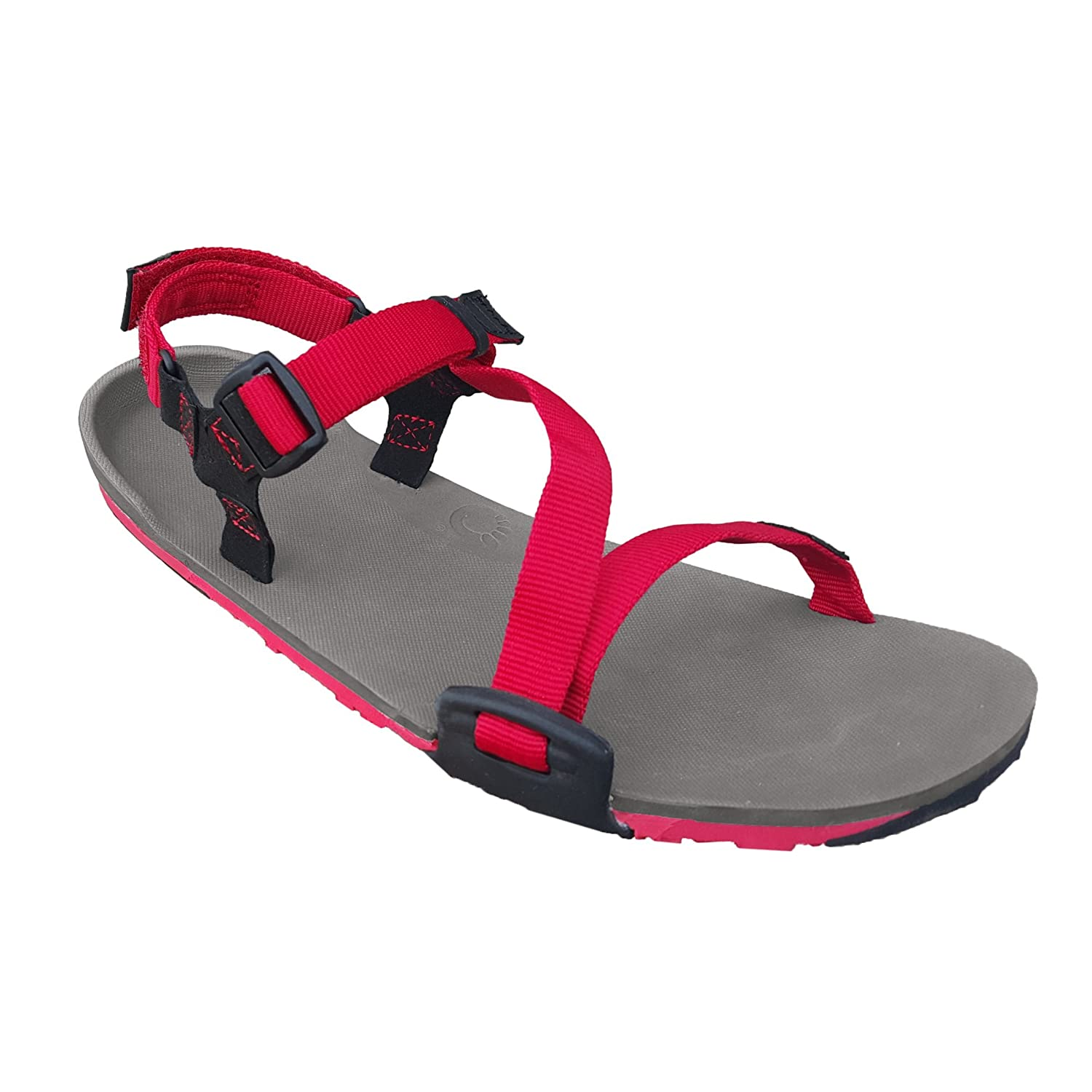 Xero Shoes Z-Trail Lightweight Sandal - Barefoot-Inspired Hiking, Trail, Running Sport Sandals - Women's B01D2302T0 5 B(M) US|Charcoal/ Red Pepper