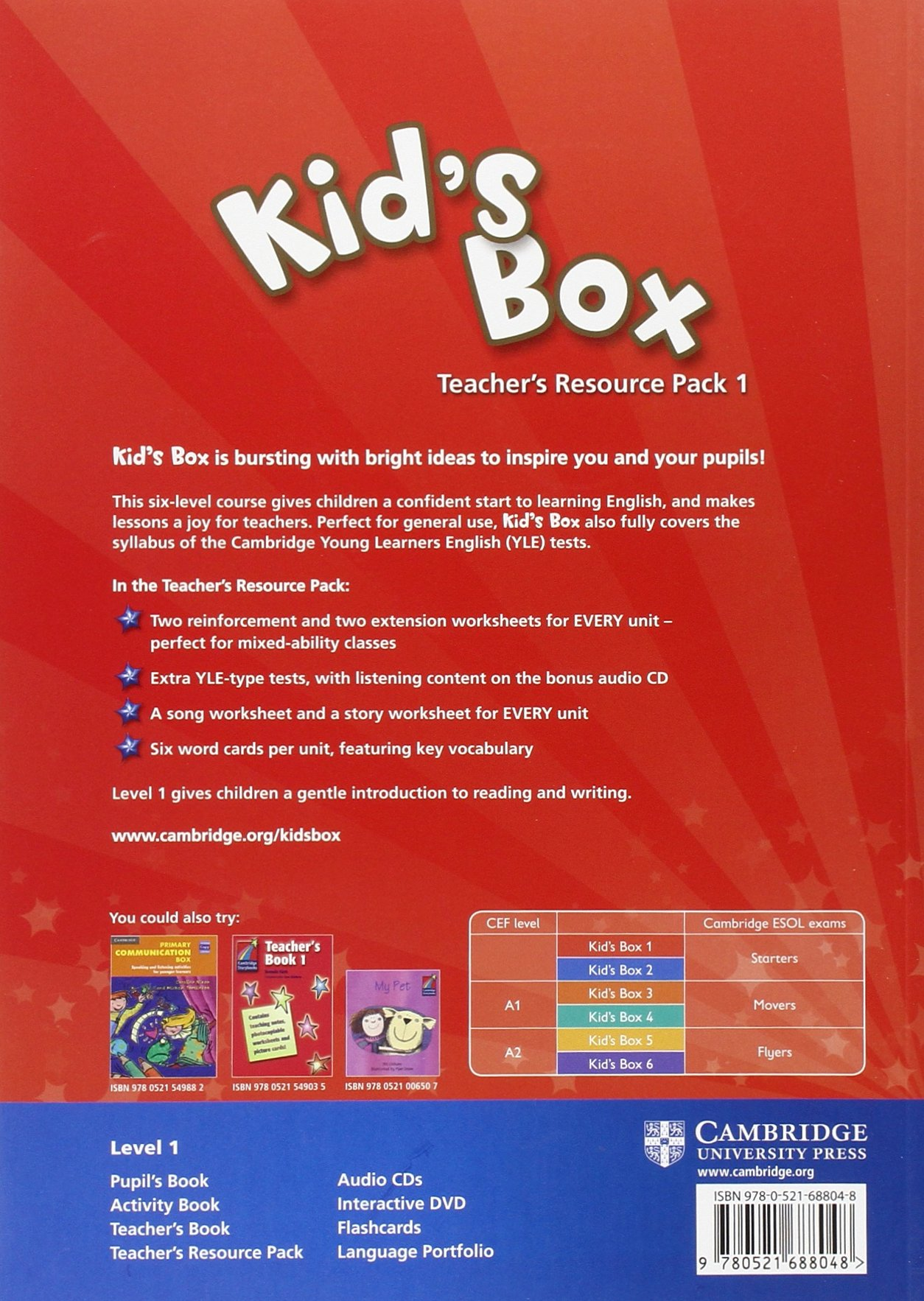 Kid's Box 1 Teacher's Resource Pack with Audio CD: Level 1: Amazon.co.uk:  Caroline Nixon, Michael Tomlinson: 9780521688048: Books