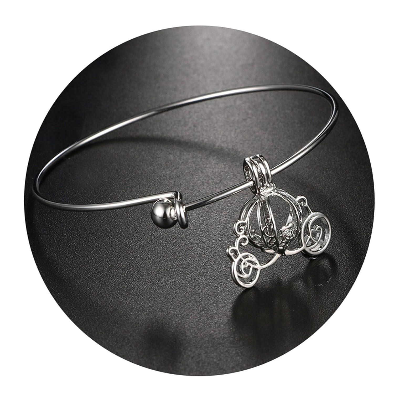 Beydodo Diffuser Bracelet Infinity Gold Plated Bracelets Women Hollow Pumpkin Cart Charm Pendant JYSLBEYDODO131