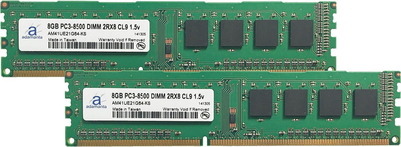 Adamanta 16GB Memory Upgrade for MSI B75A-G43 Gaming DDR3 1066 PC3-8500 DIMM 2Rx8 CL7 1.5v RAM 2x8GB