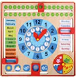 My First Calendar - All About Today Wooden Board Toy, Kids Calendar | Pre School Board Games for Kids - Educational & Learning Toys