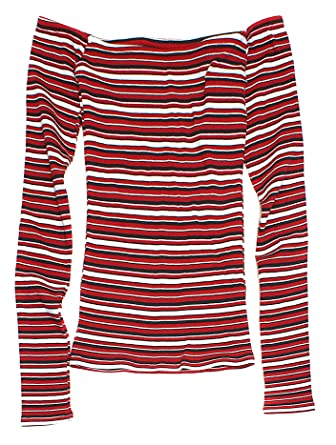 957cef38470 Hollister Women's Slim Off-The-Shoulder Long Sleeve Top HOW-22 at Amazon  Women's Clothing store: