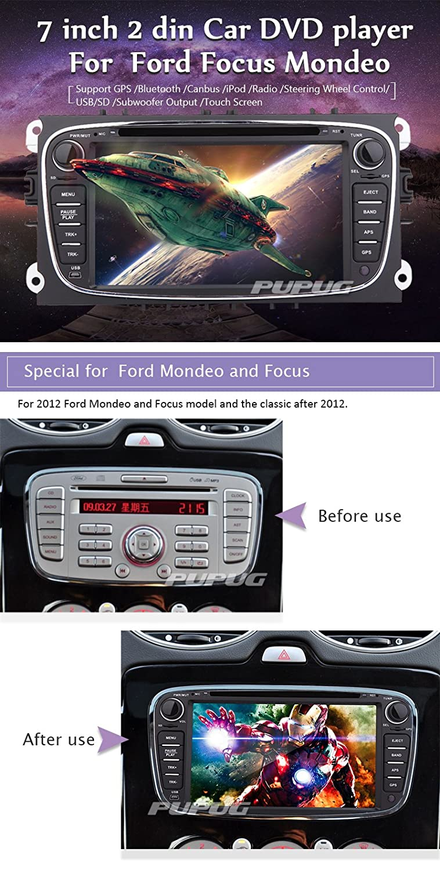 Eincar para Ford Mondeo (2007-2011) / Ford S-MAX (2008-2012) / Ford Focus (2008-2010) / Ford Galaxy (2010-2012) Coches Reproductor de DVD EST¡§|reo de 7 ...