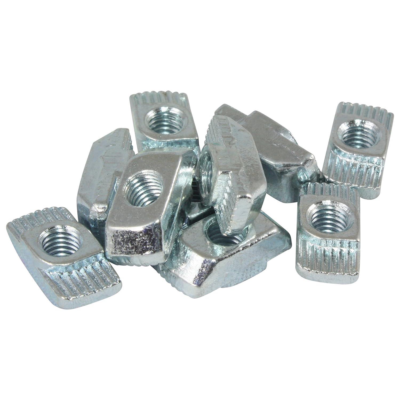 100x Hammermutter Nut 8 M5 Steg 1,5 mm Stahl verzinkt Typ B