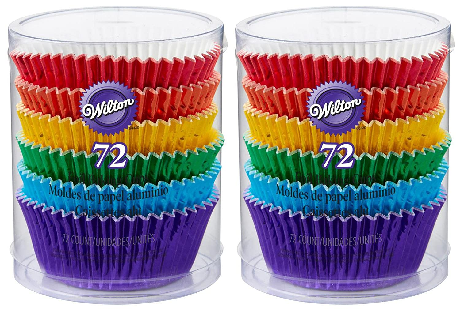2-Pack - Wilton 415-5172 - 72 ct/pack - Rainbow Cupcake Liners
