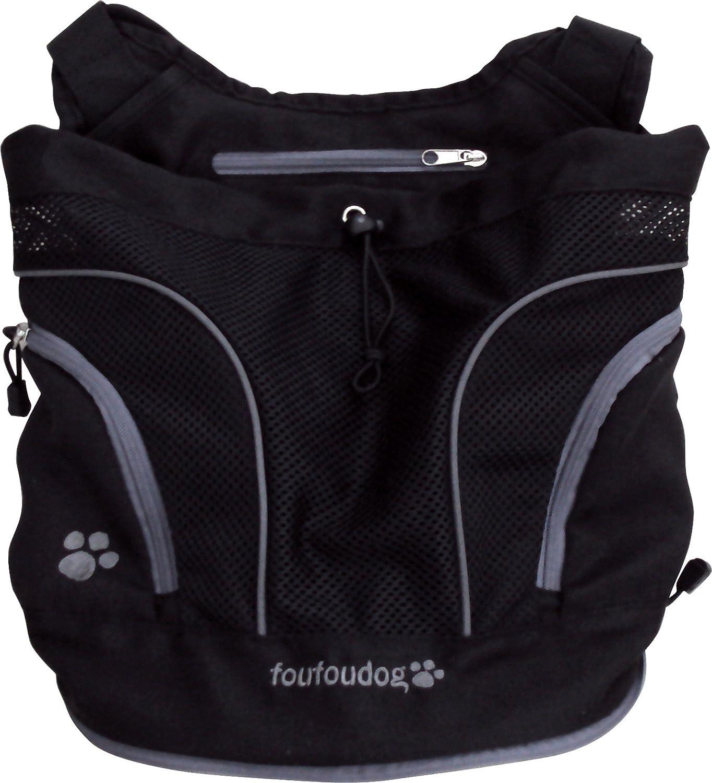 FouFou Dog Poochy Pouch, Medium, Black AMFD0104