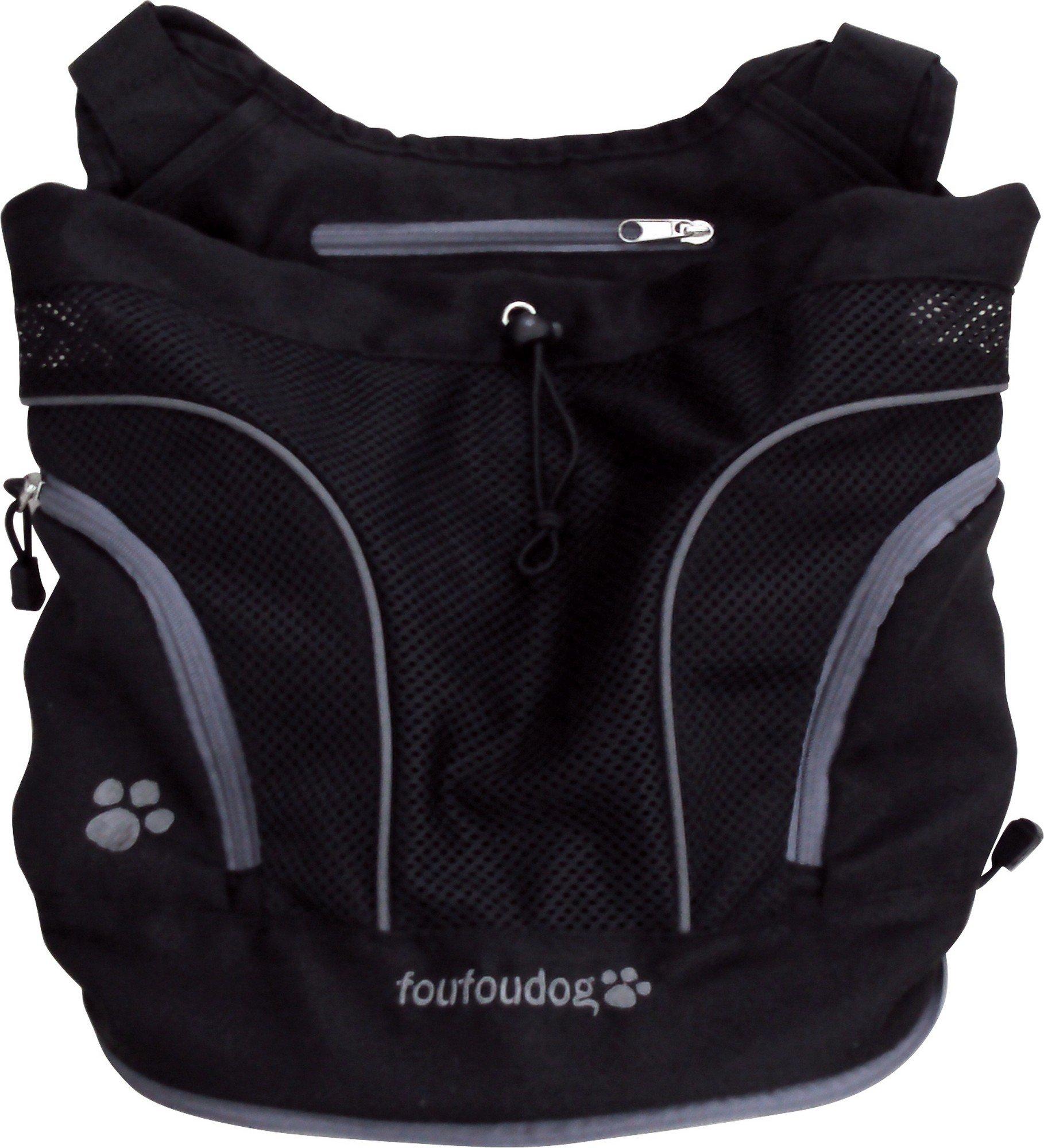 FouFou Dog Poochy Pouch, Black, Medium