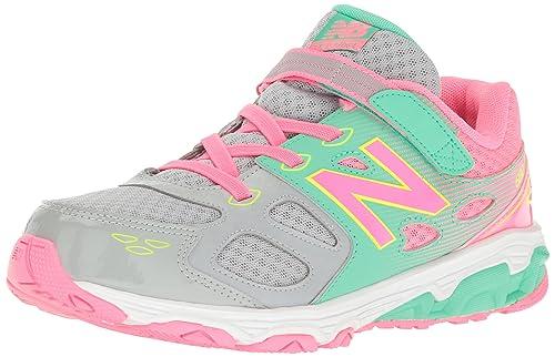 Zapatillas para correr KA680 para ni?as, gris / rosa / verde ...