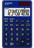 シャープ 電卓 手帳タイプ 高級感のある鏡面アルミパネル採用 ブルー系 EL-VW31-AX