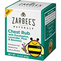Zarbee's Naturals Children's Chest Rub, 1.5 Ounces, with Eucalyptus, Lavender, Pine & Beeswax