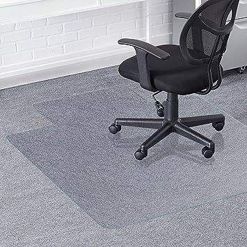 Greenmall - Alfombrilla para silla de oficina (90 x 120 cm, PVC, para protección de suelos duros, estructura duradera y resistente a los arañazos): ...