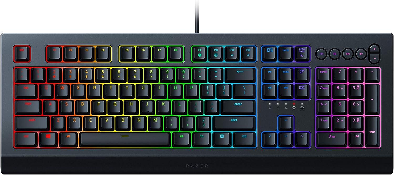 Razer Cynosa V2 Gaming Keyboard: Customizable Chroma RGB Lighting - Individually Backlit Keys - Spill-Resistant Design - Programmable Macro Functionality - Dedicated Media Keys