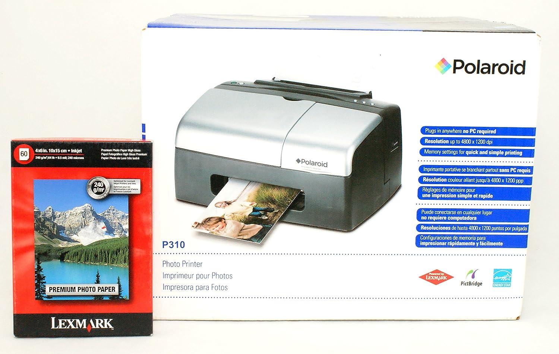 Polaroid P310 portátil Impresora de Fotos de 4 x 6 con Bono Papel ...