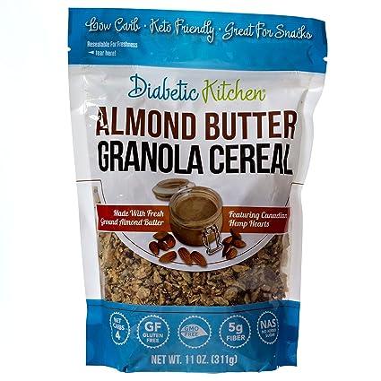 Mantequilla de almendra Diabetic Kitchen Cereal, 0.14 oz de ...