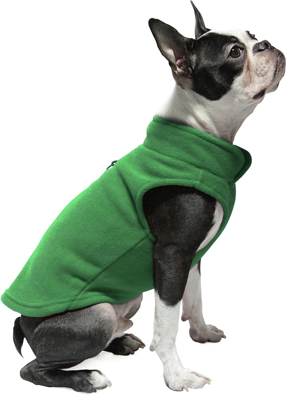 Fleece Vest Small Dog Pullover Fleece Jacket with Leash Ring Gooby