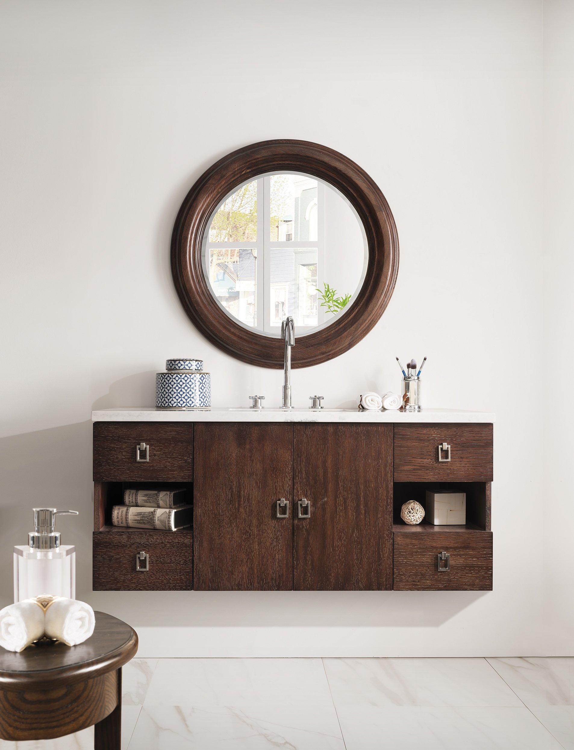 48 in. Single Vanity in Coffee Oak Finish