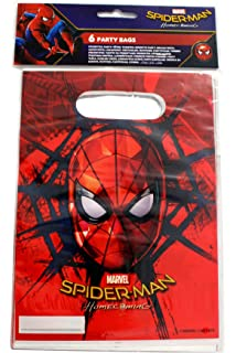 Marvel ultimate spider man party invitations pack of 20 invite spiderman homecoming plastic party loot bags x 6 stopboris Image collections