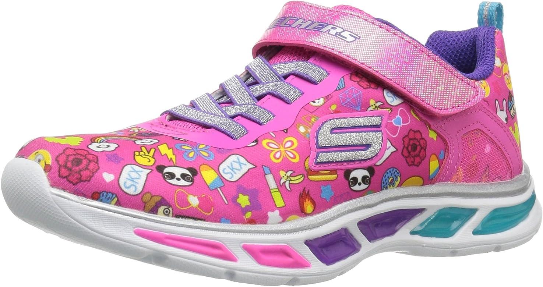 new product 01130 4a946 Skechers Mädchen Litebeams- Feelin' It Laufschuhe, Neon/pink ...