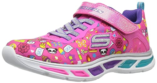 Skechers Litebeams-Feelin It, Zapatillas de Entrenamiento para Niñas, Rosa (Neon