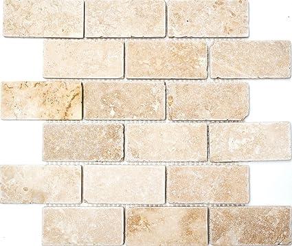 Rete mosaico mosaico piastrelle Brick Inula chiaro Antique ...