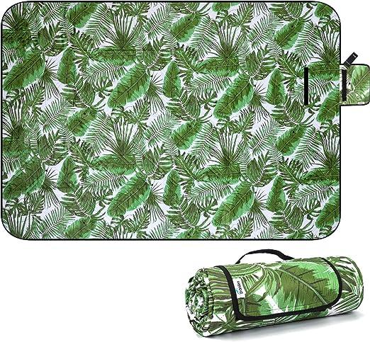 Gwxevce Camping Mat Carpa Colch/ón Impermeable Papel de Aluminio Plegable EVA Picnic Beach Pad Plata