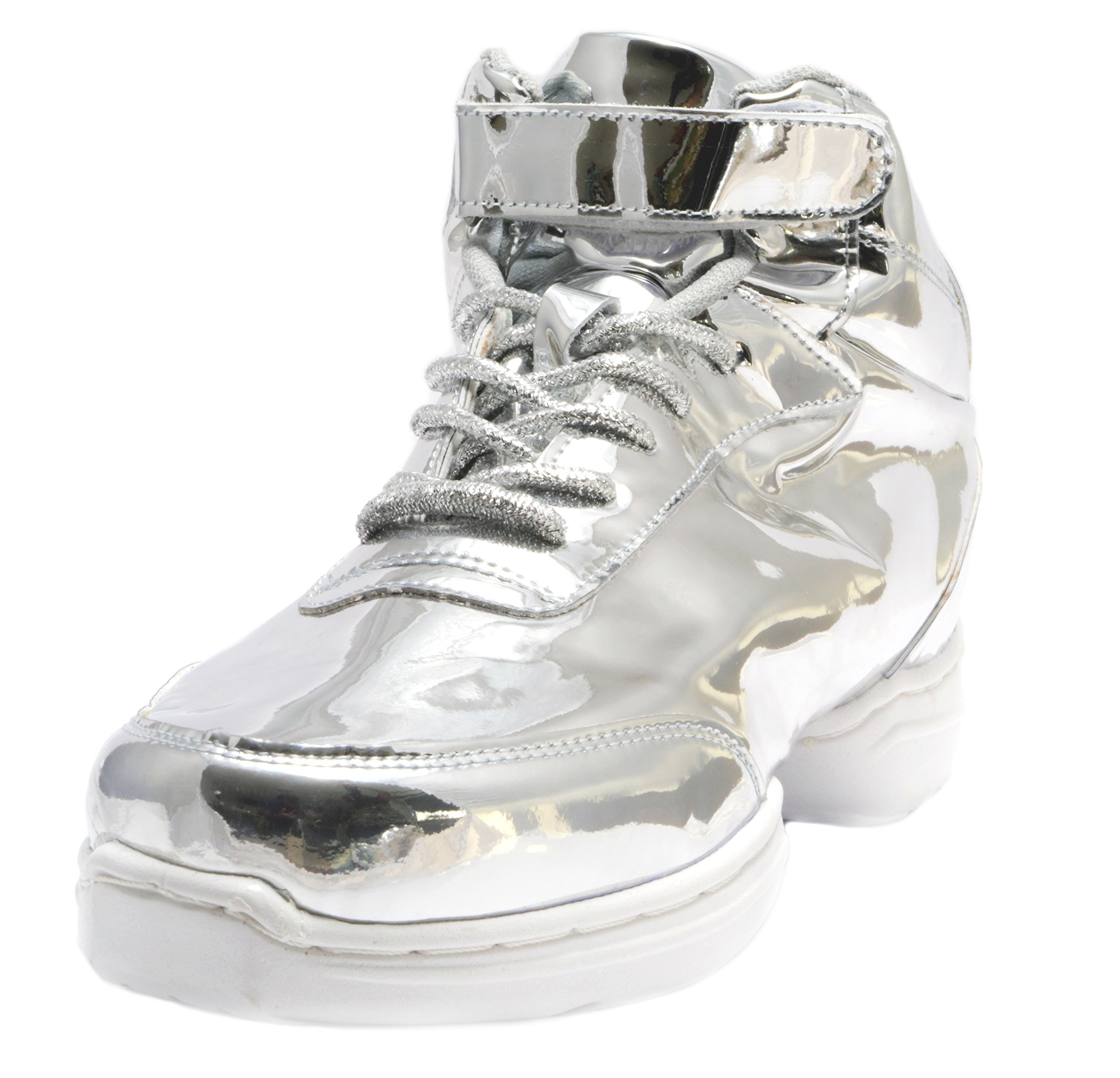 Nene's Collection Silver Women's Dance Fitness Shoes High Top Sneakers (9.5)