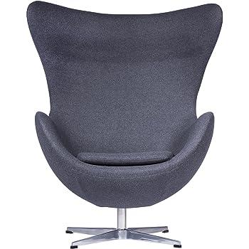 Attraktiv LeisureMod Arne Jacobsen Egg Chair In Dark Gray Wool
