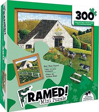 MasterPieces Wood Framed Daisy Field Farm Mini 300 Piece Framed Jigsaw Puzzle by Art Poulin