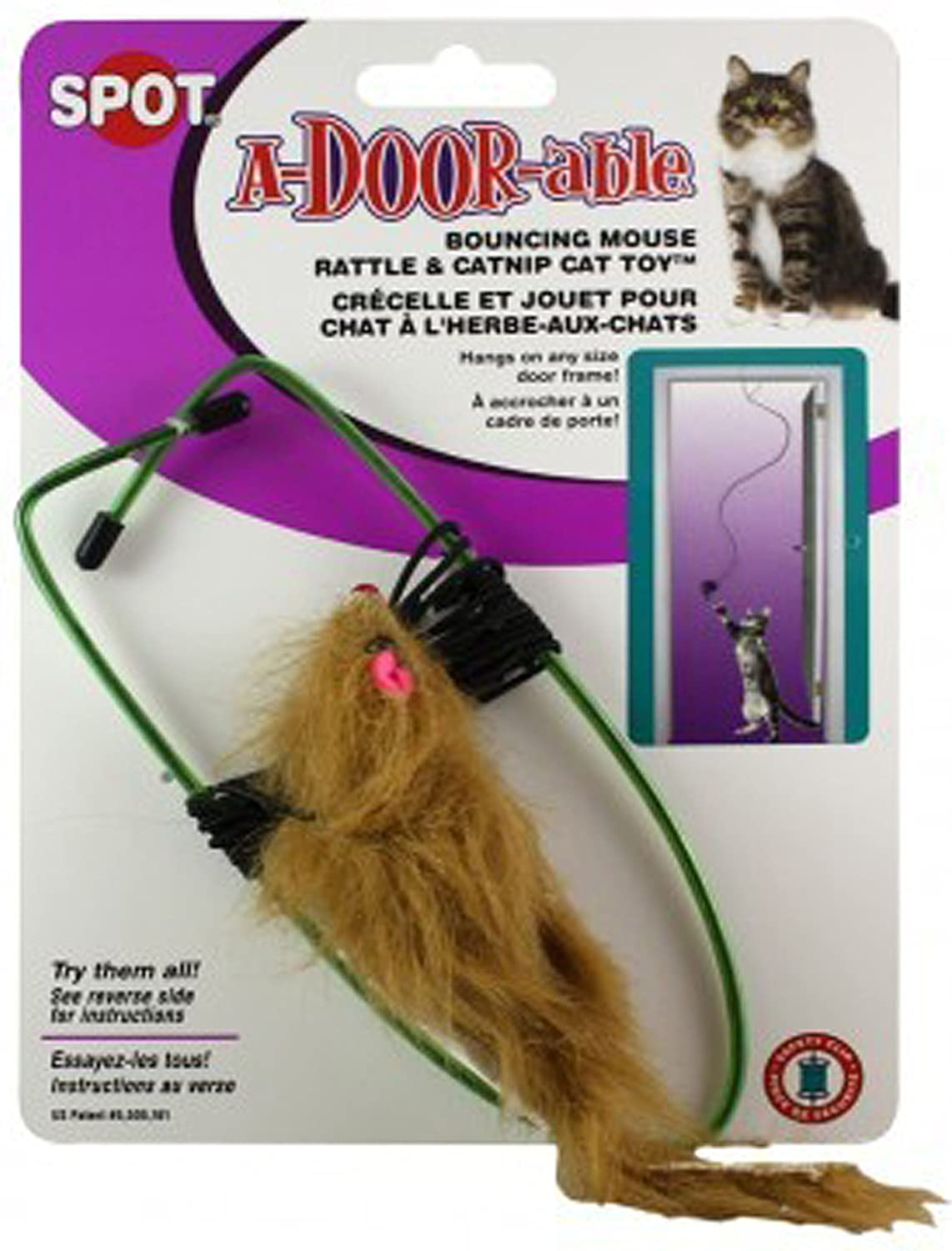 A-Door-Able Bouncing Mouse Cat Toy Size:Pack of 2 Spot