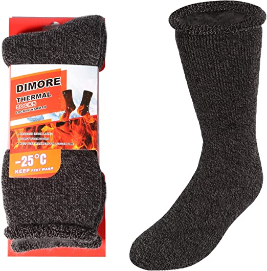 Polar Extreme Men/'s Thermal Insulated Checkered Crew Socks Black Red
