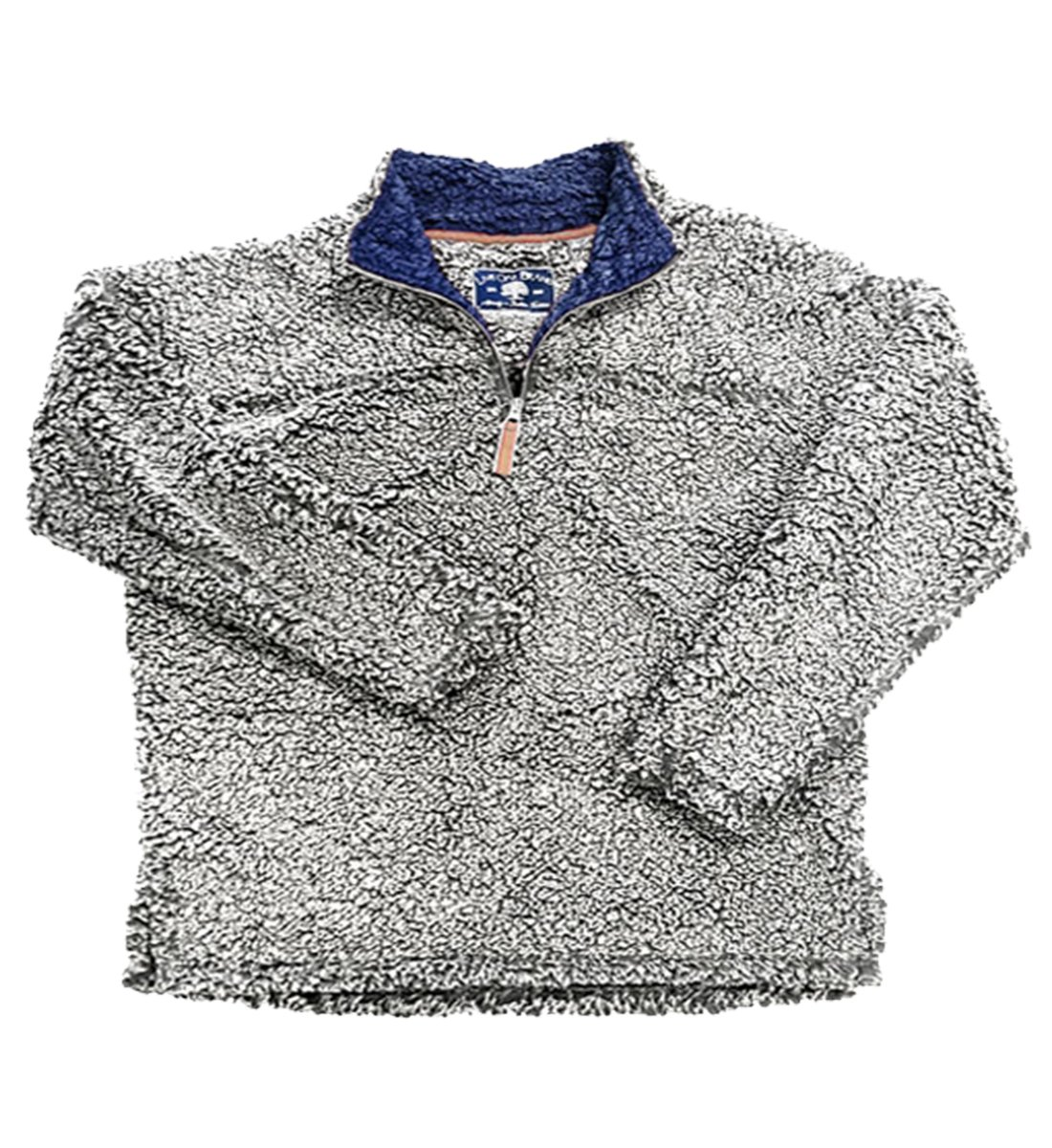 Live Oak Quarter Zip Pullover Fleece-Grey/Navy-xsmall by Live Oak