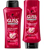 Gliss Schwarzkopf Hair Repair - Color Guard - Shampoo & Conditioner Set - Net Wt. 13.6 FL OZ (400 mL) Per Bottle - One Set