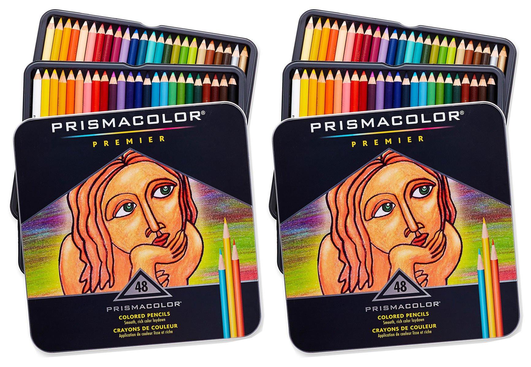 Prismacolor Premier Colored Pencils, Soft Core, 48-Count, 2 Pack