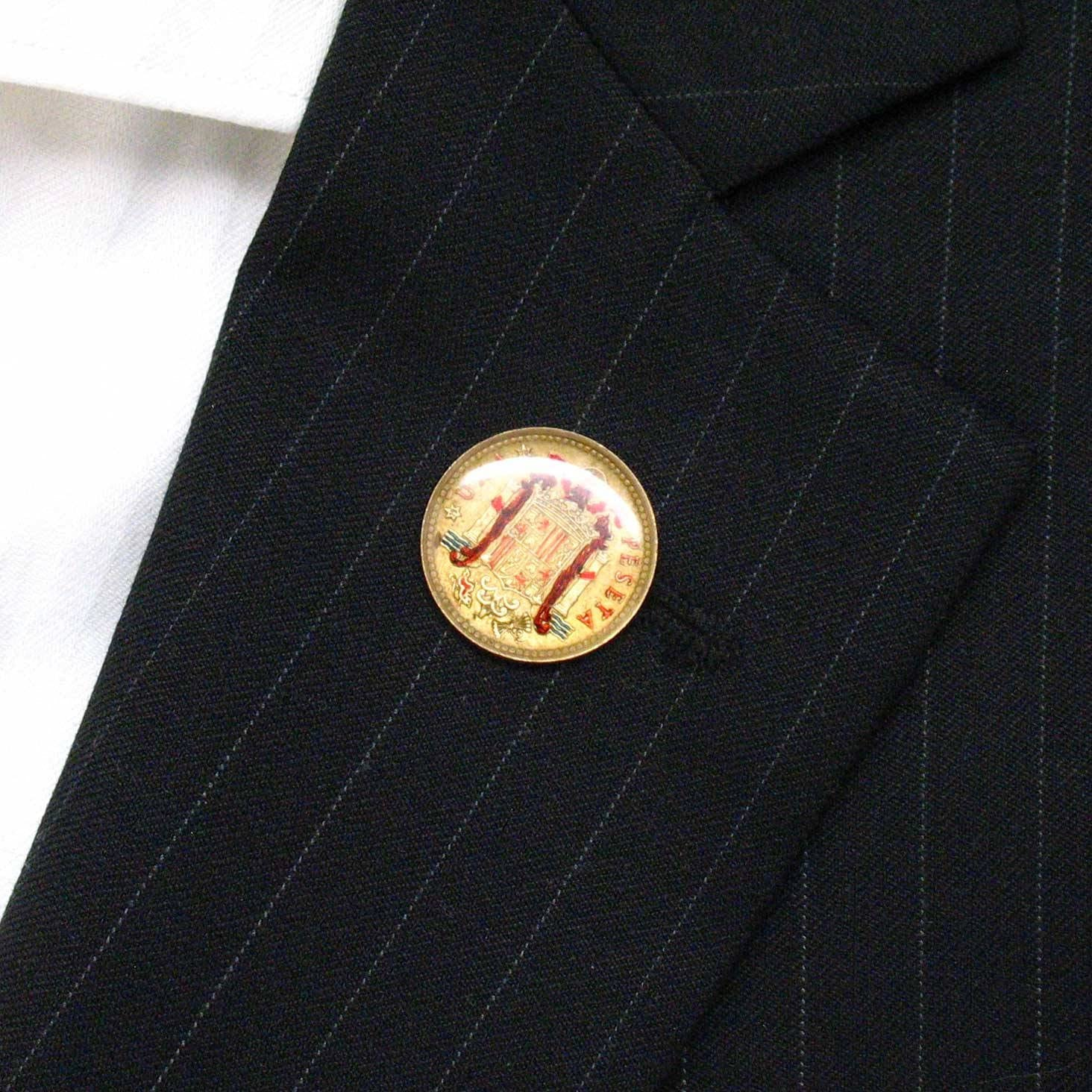 Pin con diseño de moneda de España para solapa de traje, de ...