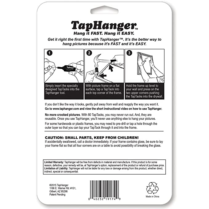 34ffedfdf7a0 TapHanger Picture Frame Hanging Kit - - Amazon.com