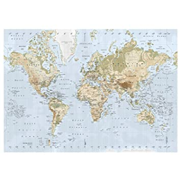Amazon.com: New Ikea Premiar World Map Picture with Frame/canvas ...