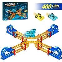 360 Degree Overturn Cross Crash Track Set - Top Speed Double X-shape Loop Tracks...