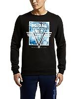 adidas NEO 阿迪达斯运动生活 EXPLORE SPACE 男式 运动帽衫卫衣 AY5768 黑/黑 16Q4 M FLEECE SWT