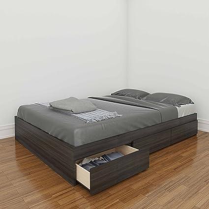 Amazon.com: Full Size Reversible Storage Bed, Ebony/White ...