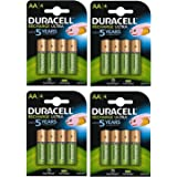 Duracell AA 2500mAh Recharge Ultra Rechargeable Batteries - Pack of 4 - Pre Charged / Stay Starged Replace 2400 (16 Pack)