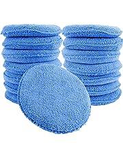 15 Pcs Standard Microfiber Applicator Pads - Blue Wax Applicator