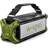 Bluetooth Speaker, W-KING 50W Super Loud Portable Bluetooth Speaker Waterproof IPX6 with 8000mAh Power Bank/Punchy Bass/TWS,