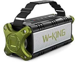 W-KING 50W Bluetooth Speaker, Loud Portable Speaker Waterproof IPX6 with 24H Playtime/8000mAh Power Bank/, Punchy Bass Outdoo