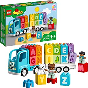 LEGO DUPLO My First Alphabet Truck 10915 ABC Letters Learning Toy for Toddlers, Fun Kids' Educational Building Toy, New 2020 (36 Pieces)