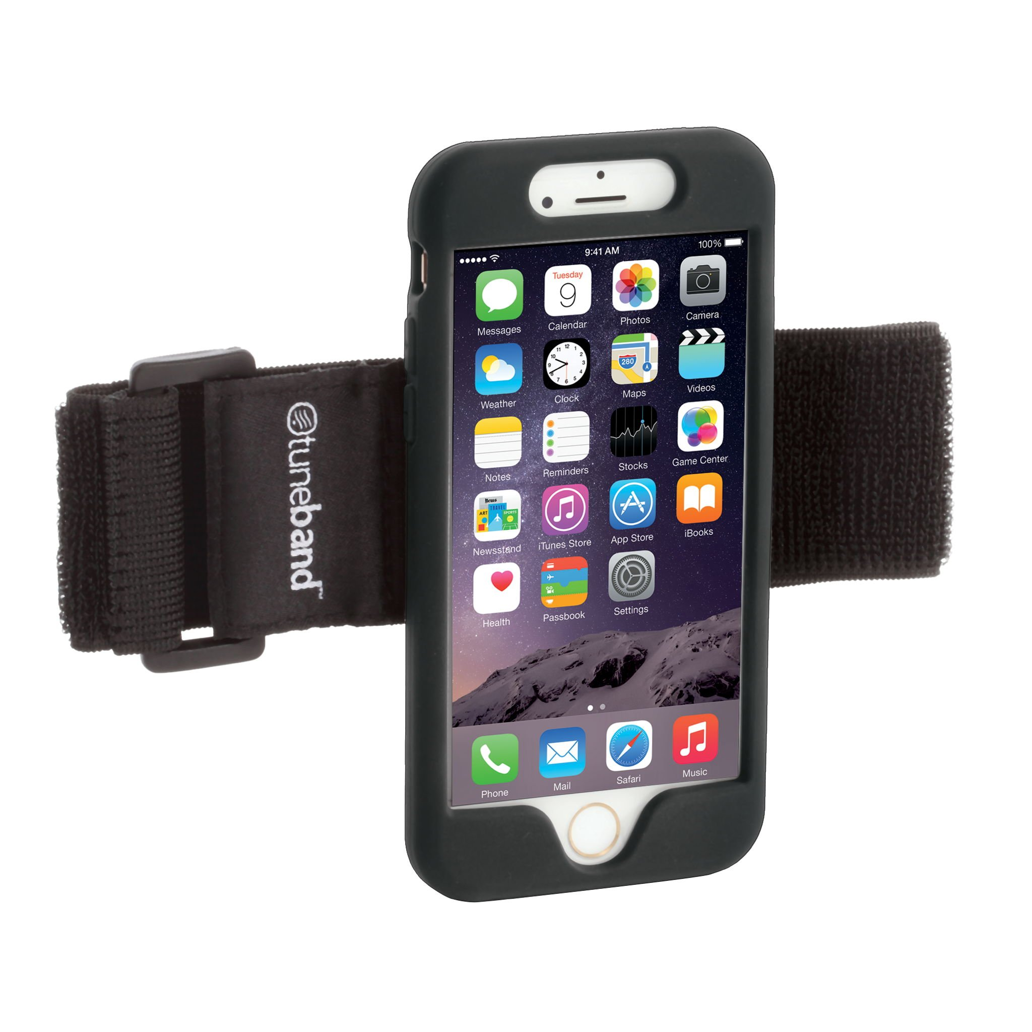TuneBand for iPhone 7, Premium Sports Armband with Two Straps and Two Screen Protectors, BLACK by Grantwood Technology (Image #1)