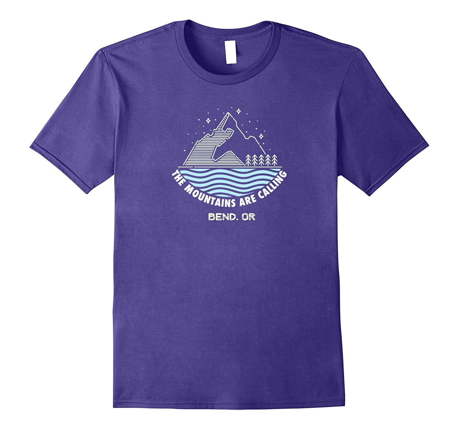 Bend OR The Mountains Are Calling T-Shirt Camping Tee-Teevkd