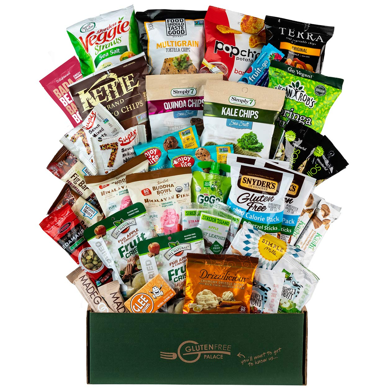 SNACK ATTACK VEGAN Care Package - Healthy Snack Box featuring VEGAN, GLUTEN FREE, DAIRY FREE, KOSHER & NON GMO SNACKS for College Students, Employees, Clients, Military and Holiday Gifts (40 Count) by Gluten Free Palace
