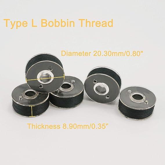 Pre Wound Embroidery Machine Bobbin Thread  BLACK x 144 Bobbins in a Box A979